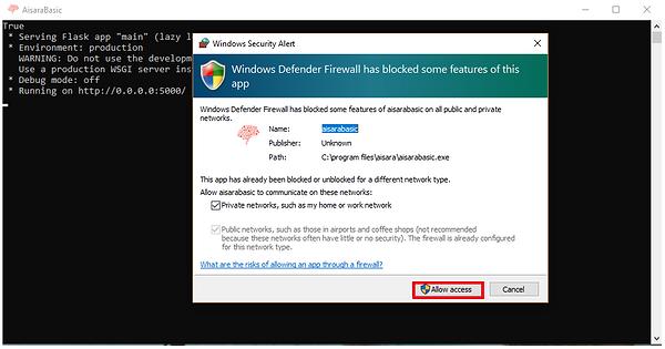 5 - Click shortcut, and allow access..PN