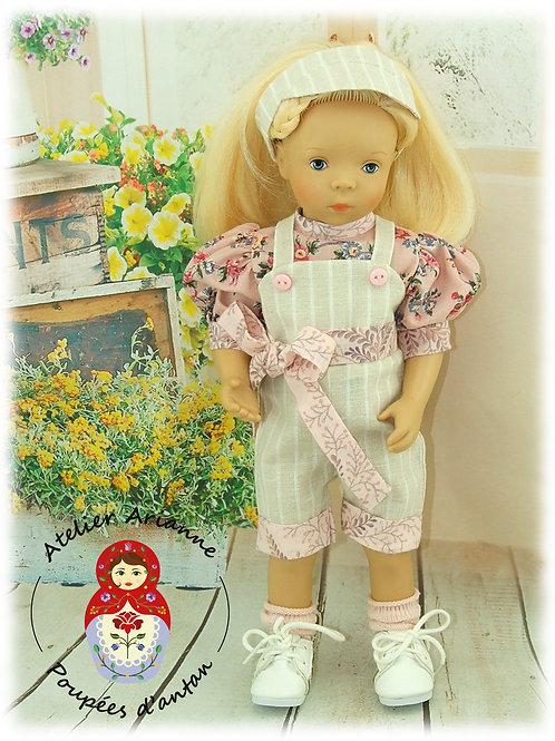 Tenue Capucine - création exclusive de la série Été Shabby pour poupée Minouche