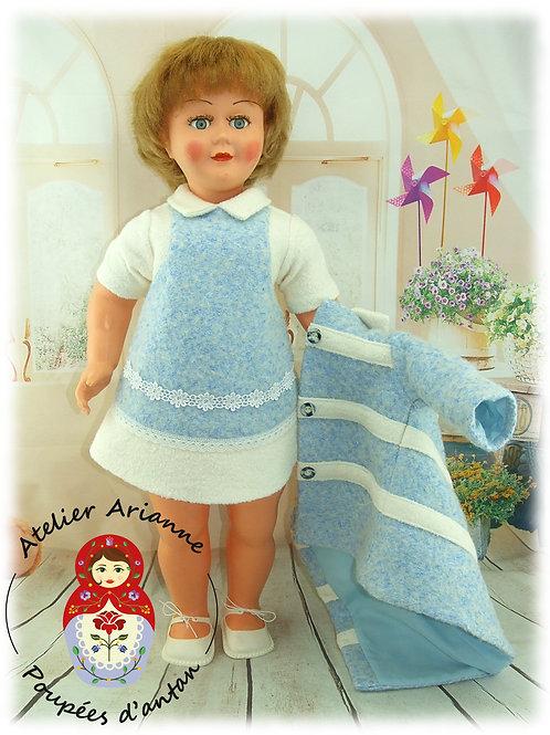 ROBE Zuzanna Reproduction de la tenue originale pour poupée GéGé 60 cm