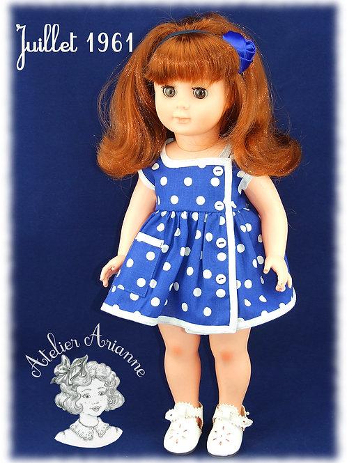 Tenue pour poupée Marie- Françoise Modes et Travaux Juillet 1961