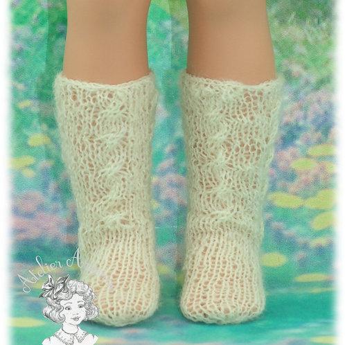 Chaussettes tricotées hautes pour poupées : Vidal, Nancy de Famosa, Berbesa