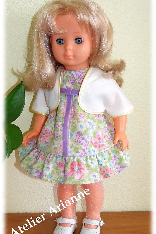 Boléro pour poupées Raynal 42 cm ou Modes et Travaux, Marie-Françoise