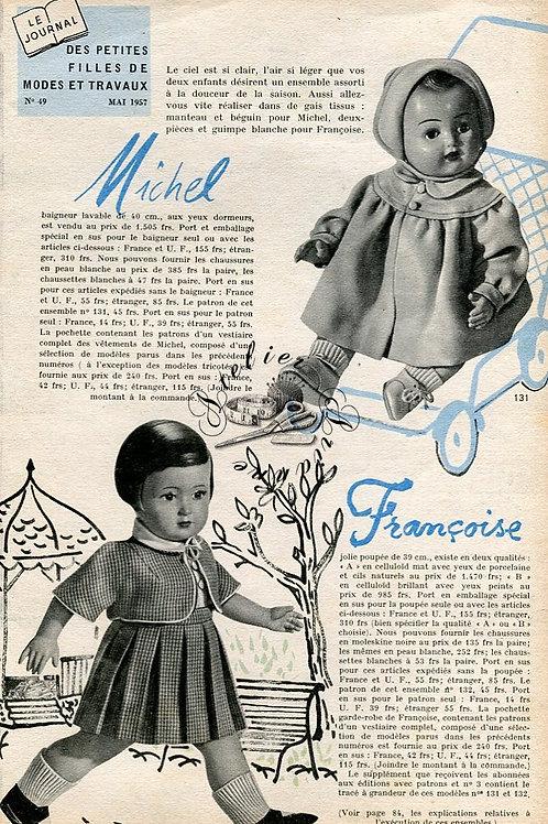 Page Modes et Travaux Mai 1957 avec mini patron