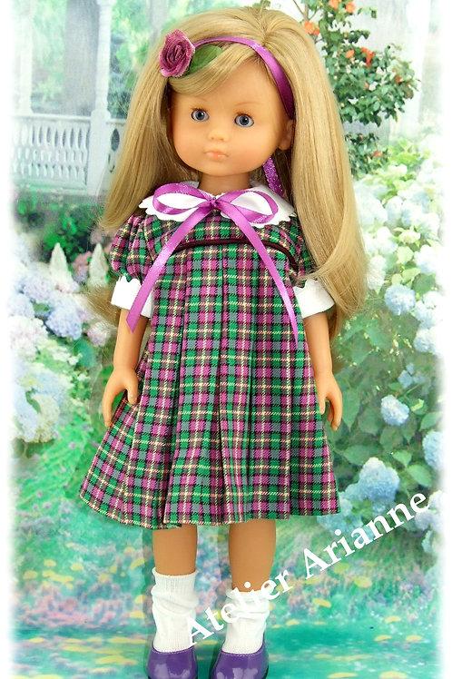 Tenue Arlette pour poupées  Little Darling ,Minouche, Corolle 33 cm