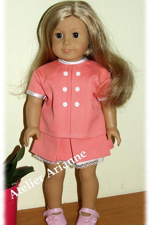 Tenue Sabine pour poupée American Girl, Corolle 42 cm, Raynal 48 cm...