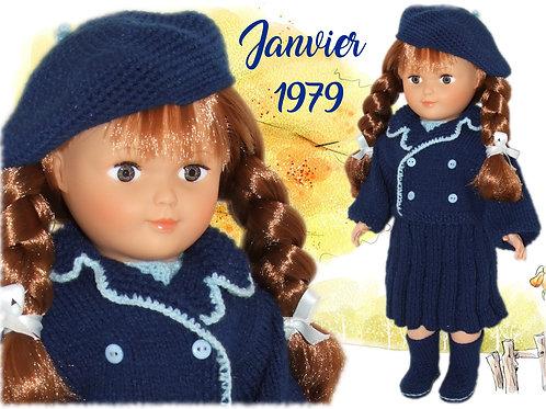 Tenue pour poupée Françoise Modes et Travaux Janvier 1979