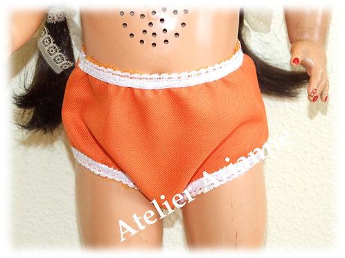 Culotte orange pour poupées 50-55 cm