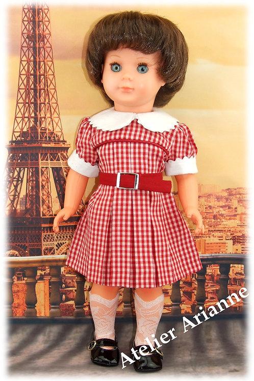 Tenue pour poupée Françoise Modes et Travaux Octobre 1954