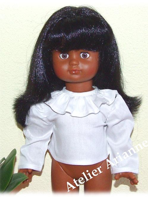 Chemise en coton pour poupée de Modes et Travaux  -Emilie