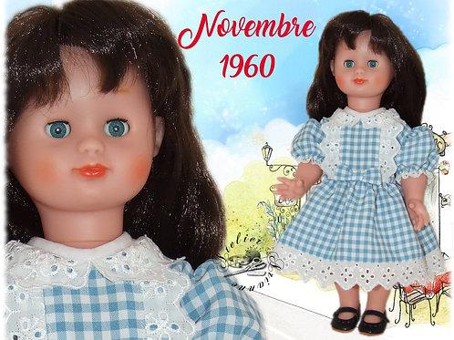 Tenue pour poupée Emilie Modes et Travaux Novembre 1960