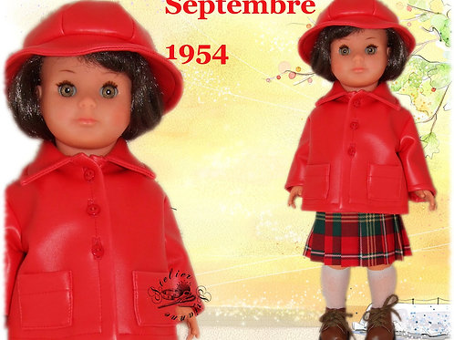 Tenue pour poupée Françoise Modes et Travaux Septembre 1954