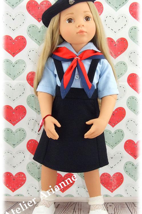 Tenue Jeannette , scout pour poupée Gotz
