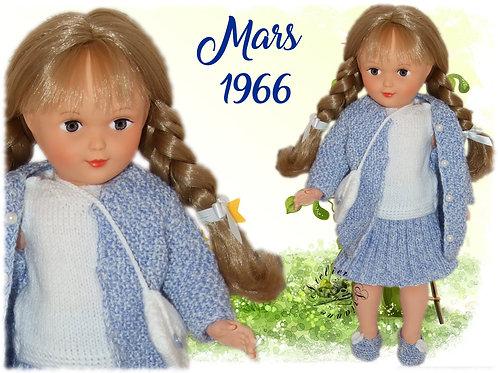 Tenue pour poupée Françoise Modes et Travaux Mars 1966