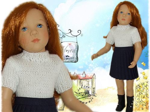 Jupe et gilet pour poupée Finouche