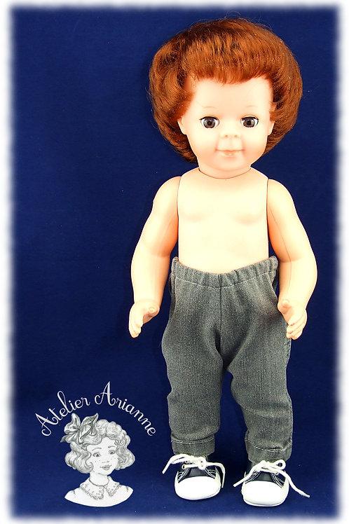 Pantalon jeans pour poupée 35-40