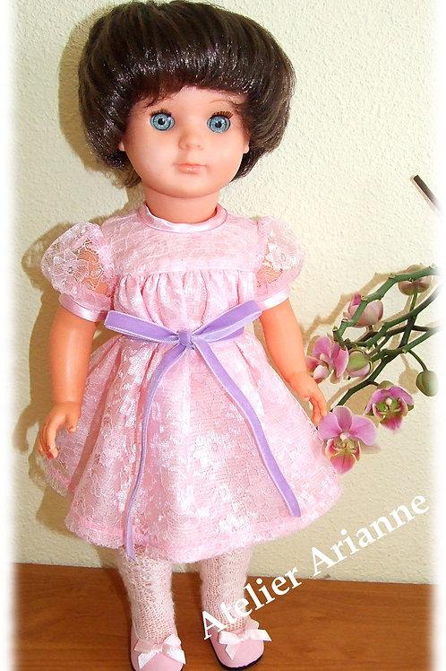 Tenue pour poupée Marie-Françoise  Modes et Travaux Novembre 1958