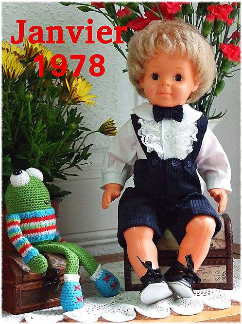 Tenue pour poupée Michel Modes et Travaux Janvier 1978