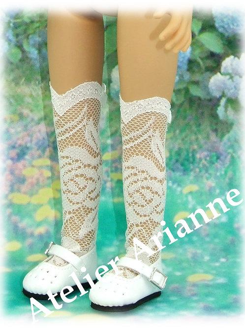 Chaussettes longues en dentelle pour poupée Little Darling