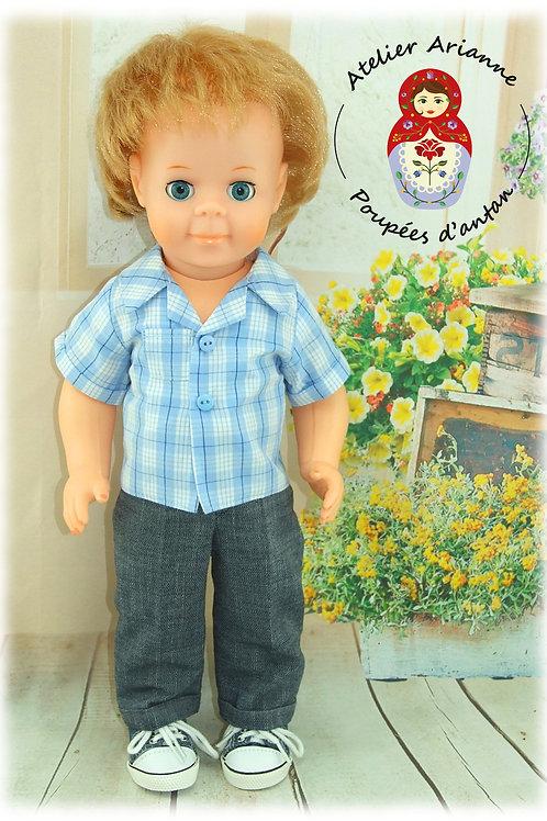 Tenue pour poupée Jean-Michel Modes et Travaux Avril 1981