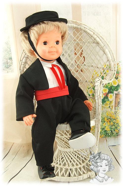 Tenue pour poupée Michel de Modes et Travaux décembre 1964