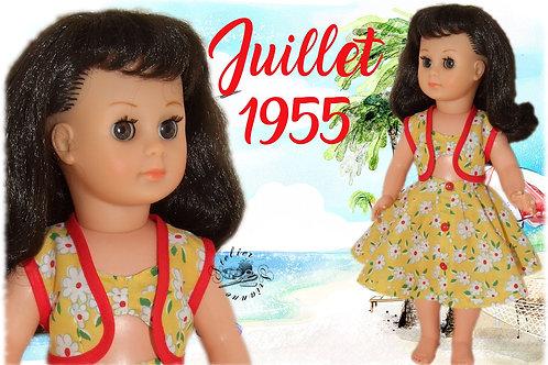 Tenue pour poupée Françoise Modes et Travaux Juillet 1955
