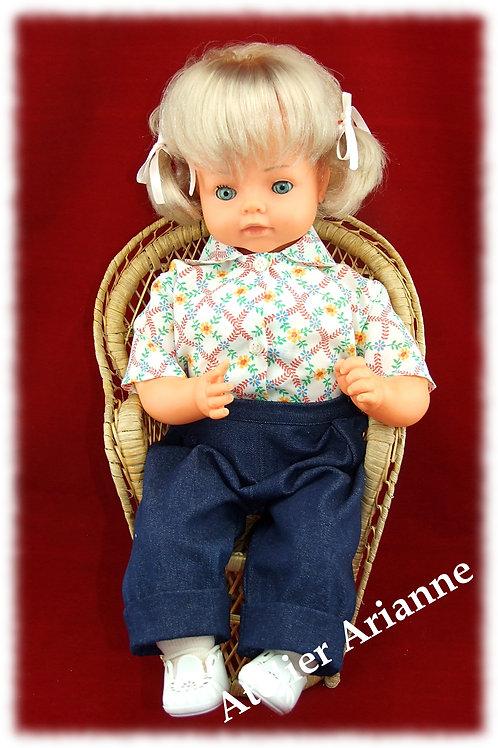 Tenue Eddy pour poupées et poupons 55-60 cm blanc
