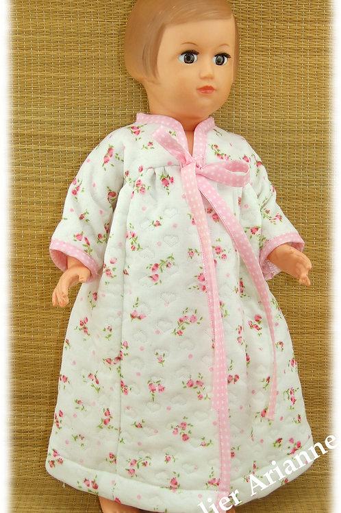 Robe de chambre Lily pour poupée Marie- Françoise, Francette Modes et Travaux