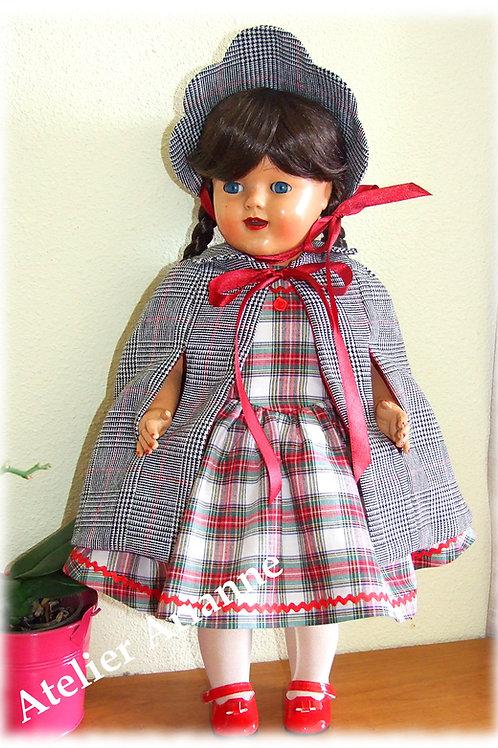 Tenue Leontine pour poupées Raynal, Bella, Gotz et autres 46-50