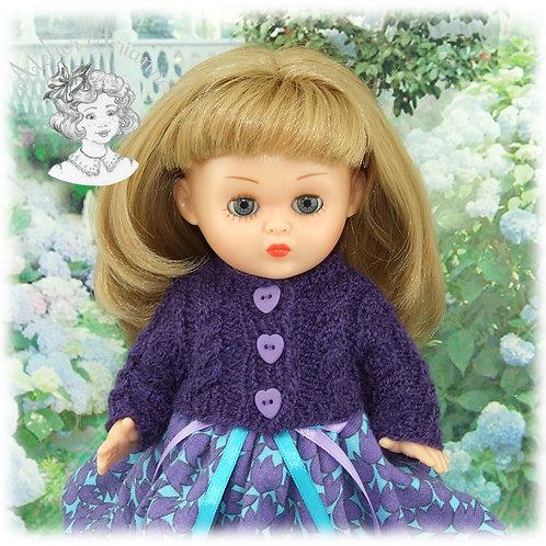 Gilet assorti à la robe Zoé pour poupée Bombon