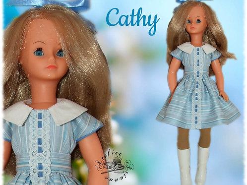 Robe pour poupée Cathy / Cathie de Bella