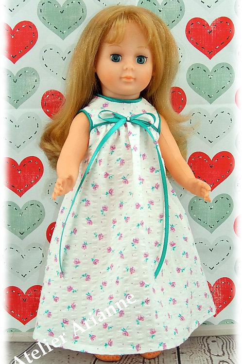 Chemise de nuit Lily pour poupée Marie- Françoise, Francette Modes et Travaux