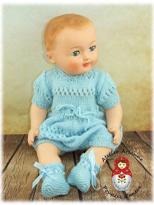 Mars 1955 Tenue pour poupée Michel de Modes et Travaux