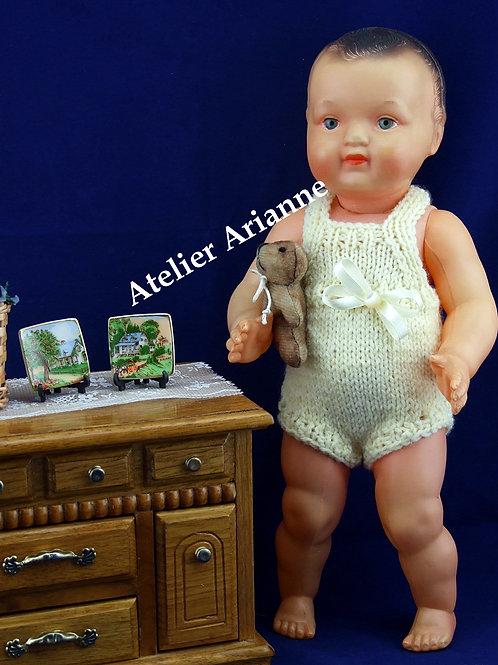 Tenue Baby pour baigneur François, Jacky. Maréchal et autre 30-35 cm