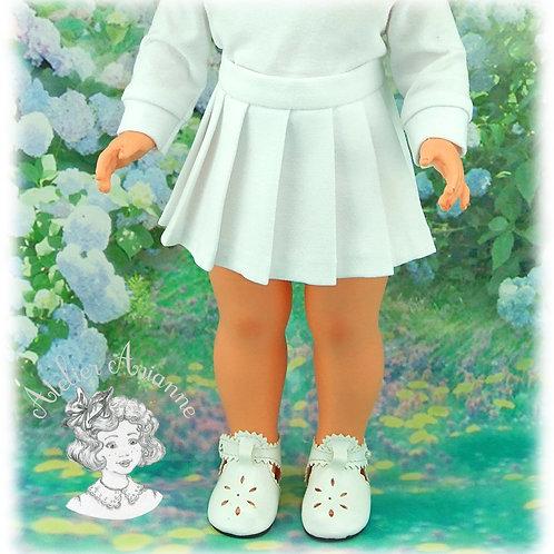 Août 1973-Jupe plissée pour poupée Marie-Françoise