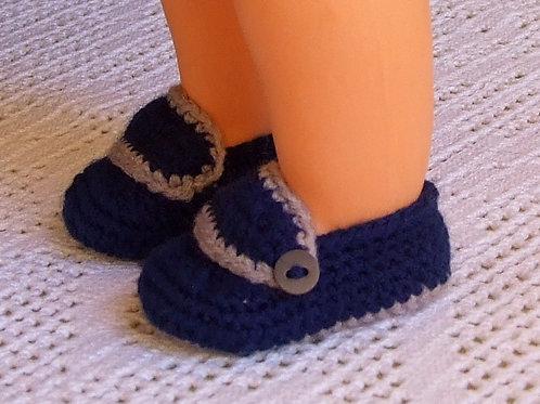 Chaussures crochet pour poupée Michel ou Jean-Michel Modes et Travaux