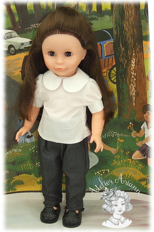 Chemise pour poupée Françoise de Modes et Travaux