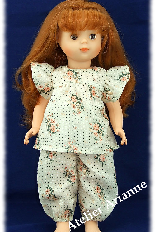 Tenue septembre 1980 pour poupée Marie-Françoise de Modes et Travaux