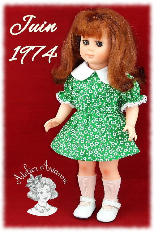 Juin 1974 Tenue pour poupée Marie-Françoise Modes et Travaux