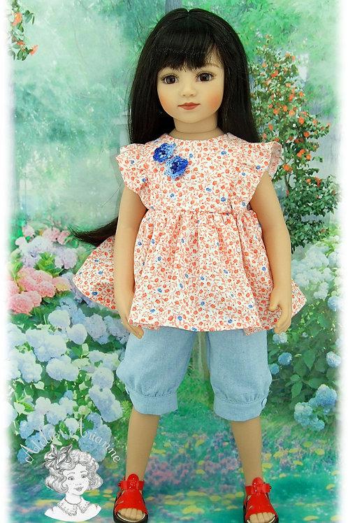Tenue Paloma pour poupées: Gotz, American, Reborn 45-50, Maru