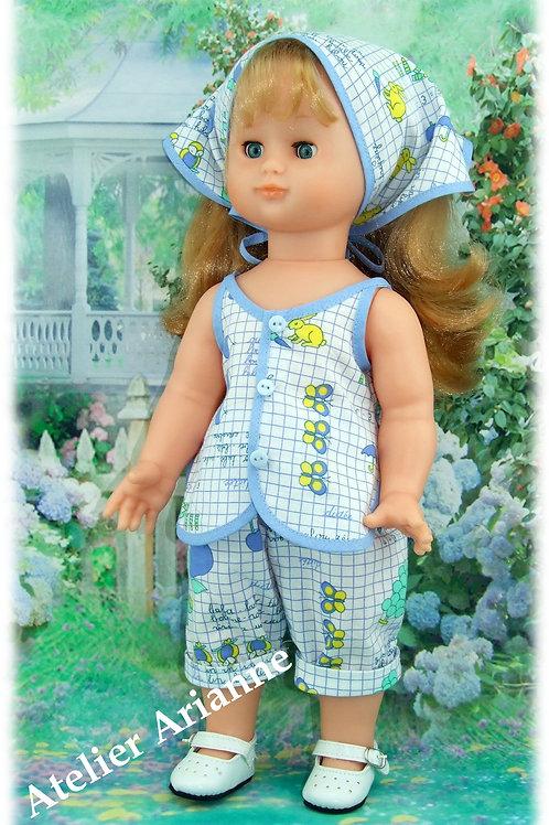 Tenue pour poupée Emilie Modes et Travaux Août 1989