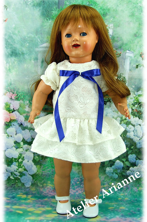 Tenue Mireille pour poupées Gotz, Zwargnase, Maru, Raynal ... 46-50 cm