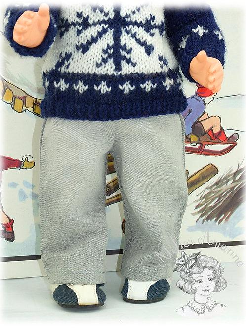 Pantalon jeans pour poupée Jean-Michel Modes et Travaux