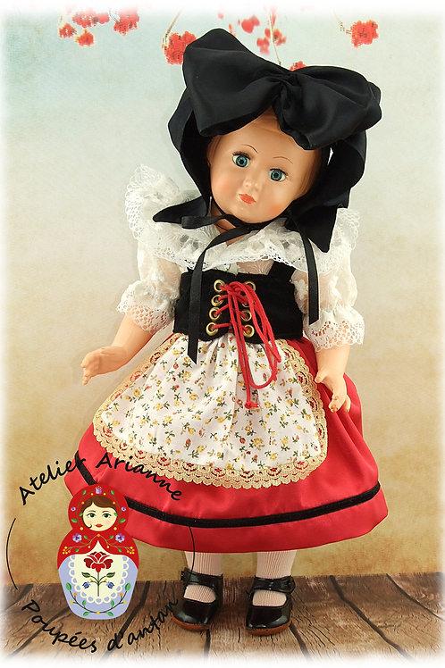 Février 1956 Tenue pour poupée Françoise,  Modes et Travaux