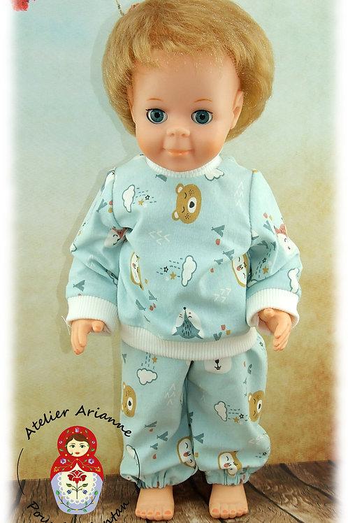 Janvier 1983 Tenue pour poupée Jean-Michel de Modes et Travaux