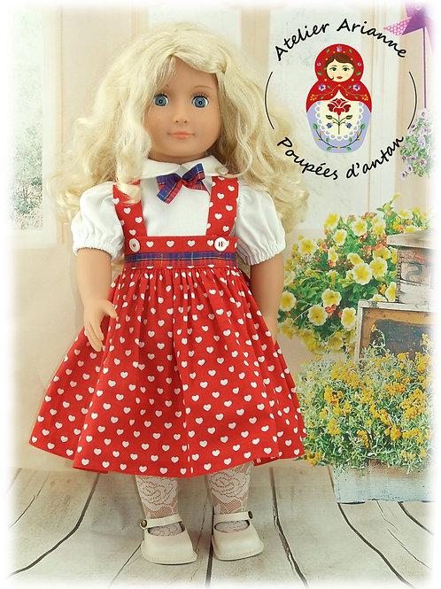 Tenue cœurs pour poupée  Our Generation