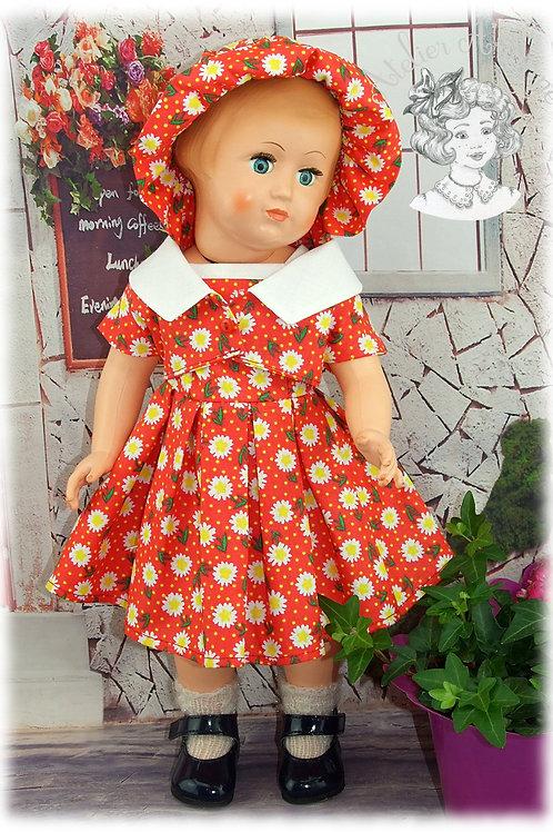 Tenue pour poupée Marie-Françoise  Modes et Travaux Juin 1959