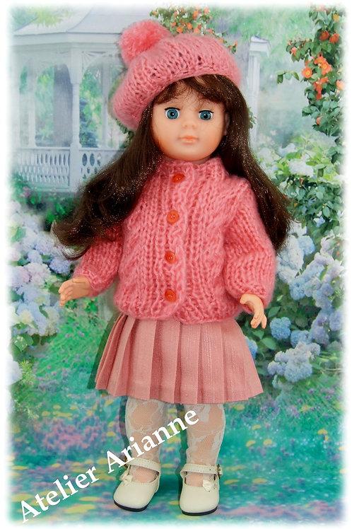 Tenue Valentina tricot, couture pour poupée Marie-Françoise Modes et Travaux