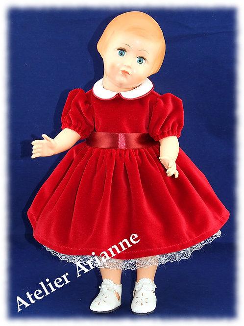 Tenue pour poupée Françoise de Modes et Travaux Décembre 1951