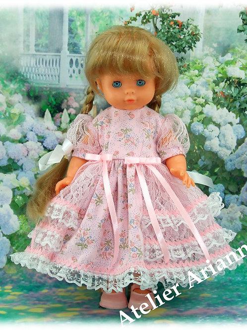 Tenue Eloise pour poupées  Little Darling ,Minouche,Corolle,  Bella 33-35 cm