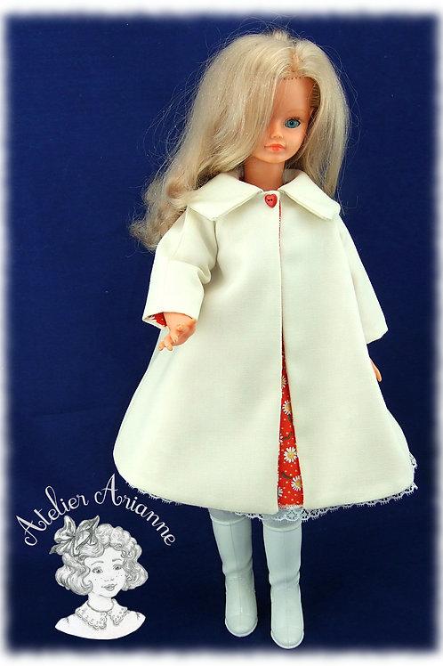 Manteau Katell, Tenue  pour poupée Cathie de Bella et Finouche